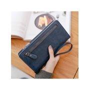 PU Leather Long Wallet Clutch Handbag Zipper Organizer Wristlets Card Cellphone Holder Purse for Women Lady