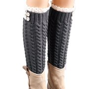 4eac58eaf Outtop Women Winter Warm Soft Wool Lace Knitted Twist Leg Warmers Boot Socks