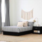 "South Shore Basics 54"" Full Size Platform Bed with Molding, Multiple Finishes"
