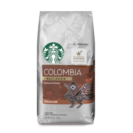 Starbucks Colombia Medium Roast Ground Coffee, 12-Ounce Bag Deluxe Starbucks Coffee Gift
