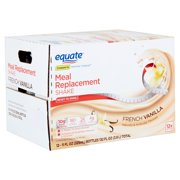 Equate French Vanilla Meal Replacement Shake, 11 fl oz, 12 count