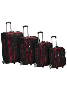 Rockland Luggage Varsity 4-Piece Softside Expandable Luggage Set