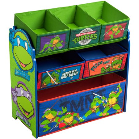 Teenage Mutant Ninja Turtles Multi-Bin Toy Organizer by Delta Children - Teenage Mutant Ninja Turtles Room Decor