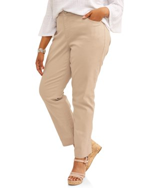Women's Plus 5 Pocket Classic Straight Leg Stretch Jean, Available in Regular and Short Lengths