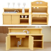 Room Furniture Kit Dollhouses & Play Sets Baby Doll Accessories Kitchen Cabinets Set For Sylvanian Families Calico Critters Dolls SPECIAL TODAY !