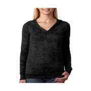 Next Level Preshrunk Rib-Knit Burnout Hooded Jersey T-Shirt, Style 6521