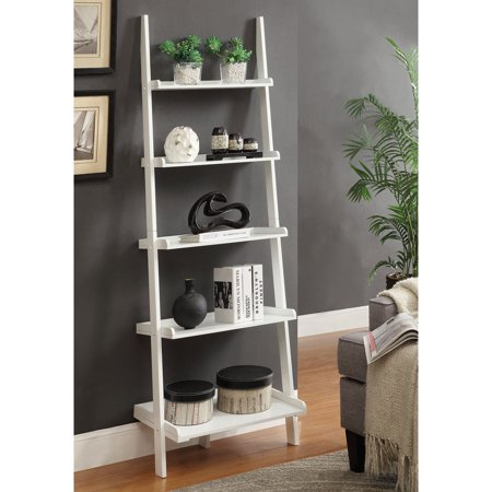 Convenience Concepts French Country Bookshelf Ladder, (Antique Wood Ladder)