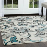 Home Dynamix Boho Blue-Cream Paisley Area Rug
