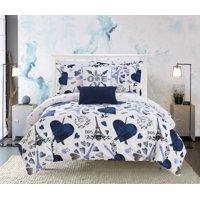 """Chic Home Marais 9 Piece Reversible """"Paris Is Love"""" Design Comforter Set"""