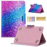 """Goodest Universal 7 Inch Tablet Case, PU Leather Stand Magnetic Wallet Cover for Samsung Galaxy Tab, Amazon Kindle Fire, Huawei, RCA, ASUS, Google and More 6.""""-7.5"""" Tablet, Glitter Sand"""