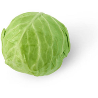 Green Cabbage, head