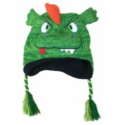 f2de42eeccf Aquarius Boys Green Monster Hat Dragon Peruvian Style Critter Trapper