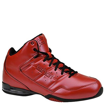 And1 Basketball Sneakers Master Mid Varsity Red/Black D1060MRRB And - Adidas Red Basketball Shoe