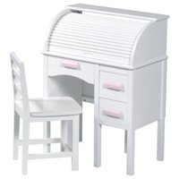 Guidecraft Roll Top Kids Desk with Chair, Multiple Colors