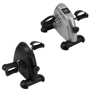 Arm and Leg Pedal Exerciser with LCD Display Mini Exercise Bike Indoor Fitness Cycling Resistance Adjustable (Black)