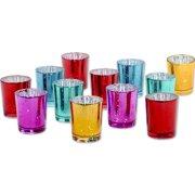 1e0aef8e0994 Koyal Wholesale 2.5 inch H Jewel Tone Mercury Glass Votive Candle Holders