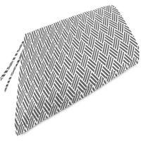 Mainstays Grey Herringbone Outdoor Patio Bench Cushion