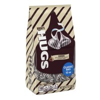 Hershey's Hugs Kisses Milk Chocolate and White Creme Candy, 12 Oz.