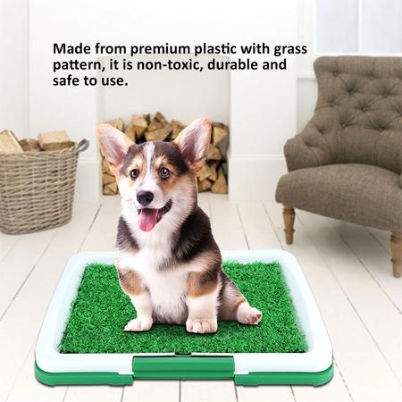Knifun Pet Potty Pads Trainning Mat Grass Portable Potty Trainer Indoor/Outdoor Restroom Pet Potty Turf Patch Toilet Dog Grass Puppy Potty Pad Mat