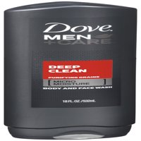 (3 pack) Dove Men+Care Body and Face Wash Deep Clean, 18 oz