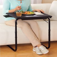 Portable & Foldable Comfortable TV Tray Table w/Cup Holder -Black