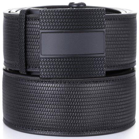 Gallery Seven Leather Click Belt , Adjustable Ratchet Belt For Men, Automatic Dress Belt, - 1-Black - Medium Up To Waist 44