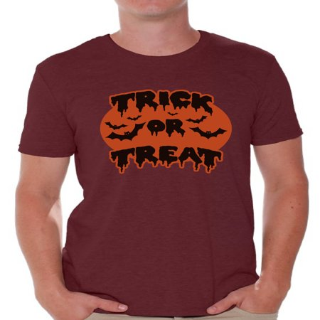 Awkward Styles Men's Halloween Graphic T-shirt Tops Trick or Treat Scary Bats](Non Scary Halloween Treats)