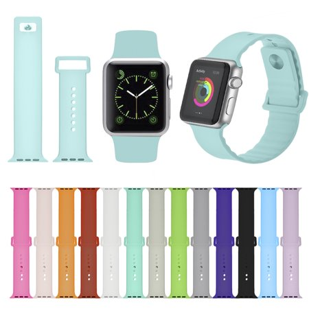 Band M - New Version Multicolored Replacement Smart Watch Silcone Strap Soft Sport Band M for 38mm Apple watch iWatch Series 3, Series 2, Series 1