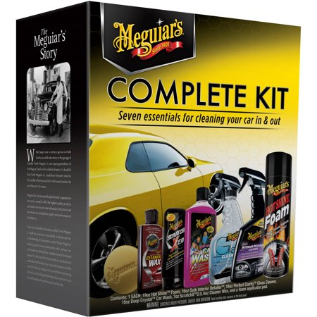 Meguiar's® Complete Car Care Kit – Essential Detailing Kit - G19900 Car Wash Detailing Supplies