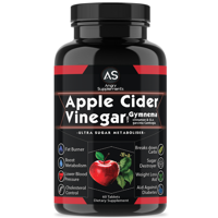 Angry Supplements Apple Cider Vinegar with Gymnema Weight Loss Pills, 60 Ct