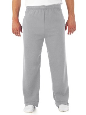 Big Men's Soft Medium-Weight Fleece Open Bottom Sweatpants, with pockets