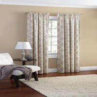 Mainstays Canvas Ironwork Curtain Panel