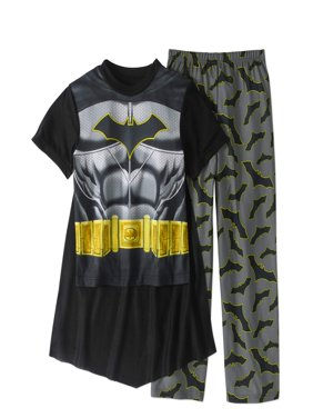 Batman Boys' Costume Play 2-Piece Pajama Sleep Set (Big Boys & Little Boys)