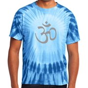 4dbf7791f089 Mens Tie Dye Hindu AUM Symbol T-shirt, Small Royal Blue