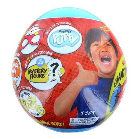 Ryan's World Giant Mystery Egg Series 2 Blue (Limited Edition) with Pack A Hatch](Halloween Egg Surprise)