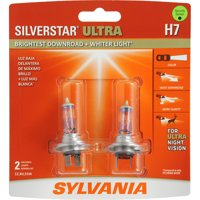 SYLVANIA H7 SilverStar ULTRA Halogen Headlight Bulb, Pack of 2