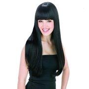 AGPtek New style black Fashion Long straight women's Girl full Hair Wig cosplay
