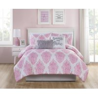 VCNY Home Love the Little Things Damask Bedding Comforter Set