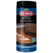 """Weiman Wood Floor Wipes - Quickly Clean floors, baseboards, and cabinets - 99% Natural Formula, Safe for Use Around Kids & Pets - 24 Large Wipes (7"""" x 10"""")"""