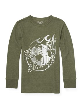 Long Sleeve Graphic Thermal Tee Shirt (Little Boys & Big Boys)