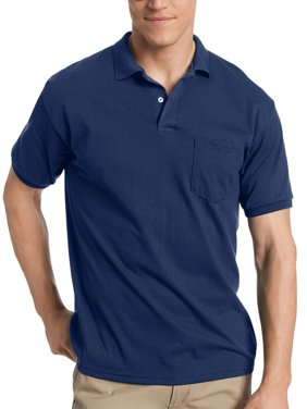 Men's Comfort Blend EcoSmart Jersey Polo with Pocket