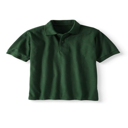 Boys' School Uniform Short Sleeve Wrinkle Resistant Performance Polo Shirt - School Clothes