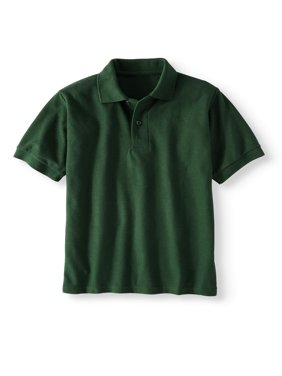 Boys' School Uniform Short Sleeve Wrinkle Resistant Performance Polo Shirt