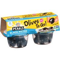 (2 Pack) Pearls® Black Pitted Large California Ripe Olives, 4 Pack, 1.2 oz. Cup