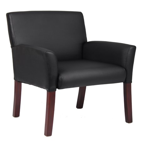 Boss Office Products Black Reception Waiting Room Chair