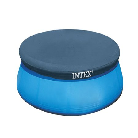 Intex 8 Foot Easy Set Above Ground Swimming Pool Debris Vinyl Round Cover Tarp