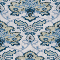 Waverly Inspirations Damask Blue 100% Cotton Duck Fabric 45'' Wide, 180 Gsm, Quilt Crafts Cut By The Yard