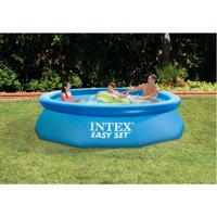 """Intex 10' x 30"""" Easy Set Above Ground Swimming Pool With Filter Pump"""