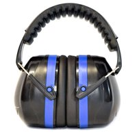 G & F 34dB Highest NRR Safety Earmuffs - Professional Ear Defenders for Shooting, Adjustable Headband Ear Protection / Shooting Hearing Protector Earmuffs Fits Adults to Kids, Blue
