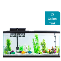 Aqua Culture 55-Gallon Aquarium Starter Kit With LED